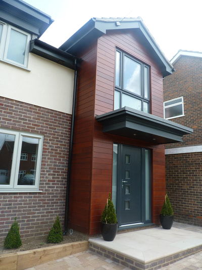 Ingatestone wooden cladding building two storey architectural design